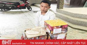 Công an Lộc Hà bắt giữ đối tượng tàng trữ pháo trong nhà