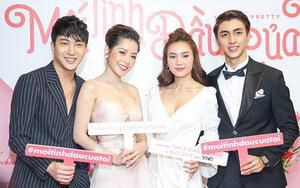 Lan Ngọc, Chi Pu sang trọng quyến rũ bên hai 'mối tình đầu' Bình An - B Trần tại họp báo 'She Was Pretty' Việt Nam