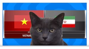 'Mèo tiên tri nước Anh' dự đoán tuyển Việt Nam thua Iran