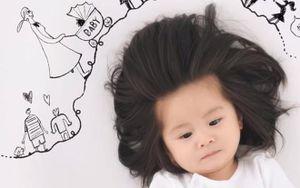 Bé gái 1 tuổi trở thành ngôi sao mạng xã hội nhờ mái tóc dày đến kinh ngạc