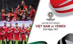 Trực tiếp bóng đá Asian Cup 2019 Việt Nam- Yemen: Quang Hải lập siêu phẩm, Ngọc Hải lạnh lùng ghi bàn từ chấm phạt đền