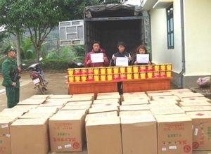 Biên phòng Cao Bằng bắt 3 đối tượng vận chuyển 1,35 tấn pháo
