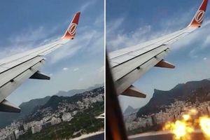 Động cơ 'khạc cầu lửa' buộc máy bay hạ cánh khẩn cấp
