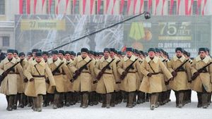 Toàn cảnh lễ diễu binh của Nga kỷ niệm 75 năm cuộc bao vây Leningrad