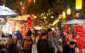 Chợ hoa Tết truyền thống hút khách về đêm