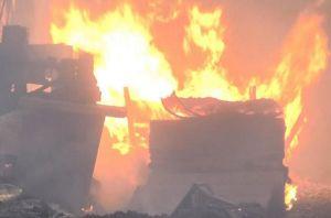 'Bà hỏa' thiêu rụi 3.000 m2 xưởng gỗ sát ngày Tết ông Công ông Táo