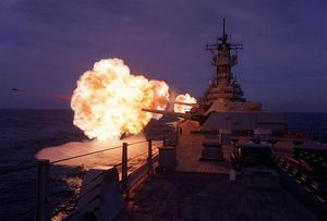 Mãn nhãn lần cuối cùng thiết giáp hạm Mỹ khai hỏa