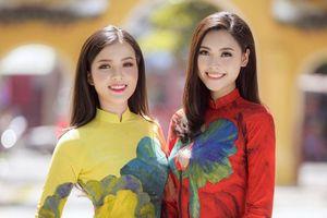 Hoa khôi Thúy Vi đọ sắc người đẹp Biển Đào Hà trong tà áo dài