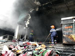 Thái Nguyên: Cháy tại Chợ trung tâm Thái Nguyên