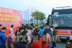 Hải Phòng tổ chức xe miễn phí đưa lao động về quê đón Tết Kỷ Hợi