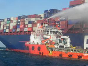 Không chế vụ hỏa hoạn trên tàu vận tải biển của Singapore