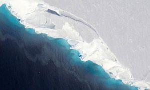 Phát hiện lỗ hổng khổng lồ dưới đáy sông băng Nam Cực