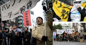 Nhật Bản: 'Hội thanh niên xấu trai' xuống đường biểu tình phản đối ngày lễ tình nhân Valentine 14/2