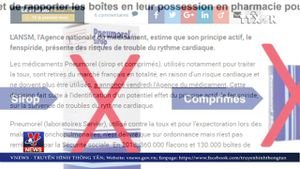 Pháp thu hồi loại thuốc ho Pneumorel
