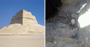 Kinh ngạc hài cốt thiếu nữ gần kim tự tháp Ai Cập