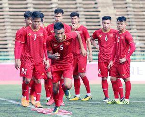 U22 Việt Nam tích cực chuẩn bị cho lượt trận thứ 2 tại AFF U22 LG Cup 2019