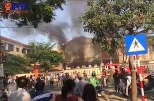 Cháy lớn tại trường tiểu học, học sinh phải di tản