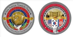 Đồng xu kỷ niệm Hội nghị thượng đỉnh Mỹ-Triều có giá 100 USD, giới hạn 1.000 bản