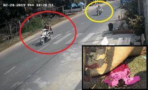 2 cô gái trẻ không đội mũ bảo hiểm, chạy trốn CSGT gây tai nạn thương vong