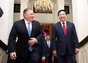 Phó Thủ tướng, Bộ trưởng Ngoại giao Phạm Bình Minh hội đàm với Ngoại trưởng Hoa Kỳ