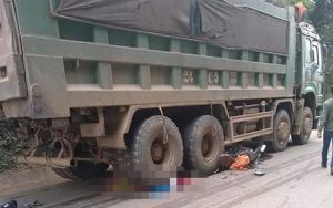 Người vợ mới cưới tử vong khi 2 vợ chồng bị cuốn vào gầm xe tải sau tai nạn