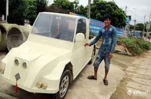 Ngỡ ngàng xe 'ô tô bán tải' làm từ động cơ xe máy của thợ hàn Nghệ An