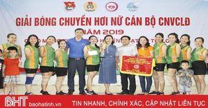 Trường Mầm non I giành quán quân Giải Bóng chuyền hơi nữ TP Hà Tĩnh