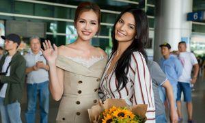 Hoa hậu Siêu quốc gia 2018 xuất hiện xinh đẹp tại sân bay Tân Sơn Nhất
