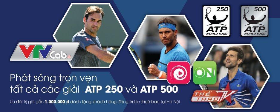 VTVcab mua bản quyền giải tennis nam quốc tế ATP 250 và ATP 500