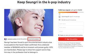 Fan 'cuồng' ký tên ủng hộ Seungri Big Bang: Mù quáng dung túng cho cái ác, cái xấu!