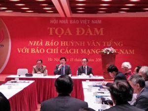 Tọa đàm 'Nhà báo Huỳnh Văn Tiểng với báo chí cách mạng Việt Nam'.