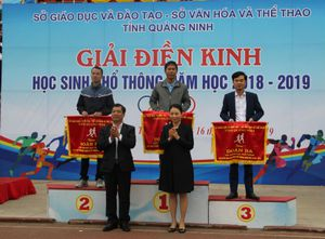 Hải Hà nhất toàn đoàn Giải điền kinh học sinh phổ thông tỉnh Quảng Ninh