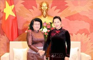 Chủ tịch Quốc hội Nguyễn Thị Kim Ngân tiếp Phó Chủ tịch thứ hai Quốc hội Campuchia