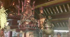 Độc đáo bức tượng 'đầu người đội Phật' nghìn năm tuổi
