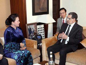 Chủ tịch Quốc hội hội kiến thủ tướng Maroc