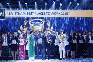 Vinamilk tiếp tục đứng đầu top 100 nơi làm việc tốt nhất VN 2018