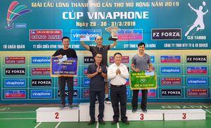 Ðồng Nai xếp hạng ba toàn đoàn Giải cầu lông TP. Cần Thơ mở rộng 2019