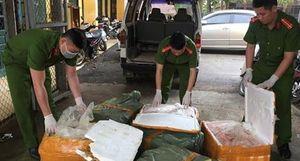 Bắt vụ vận chuyển 350kg sản phẩm động vật bốc mùi hôi thối