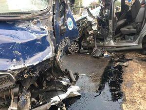 Va chạm giao thông trên Quốc lộ 20, bốn người bị thương nặng