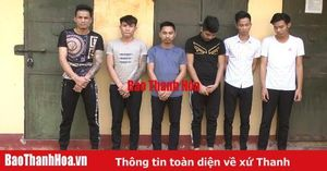 Công an huyện Thọ Xuân khởi tố, bắt tạm giam 6 đối tượng tổ chức sử dụng trái phép chất ma túy