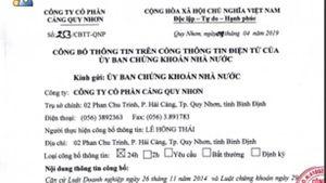 Cảng Quy Nhơn hoãn họp cổ đông theo đề nghị của Vinalines