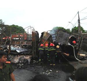 Vụ tai nạn trên Quốc lộ 1A, 2 người bị thiêu cháy: Danh tính nạn nhân