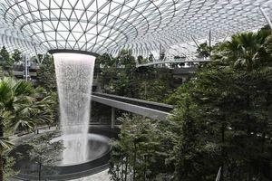 Thác nước khổng lồ trong nhà ga mới 1,7 tỷ USD của sân bay Changi