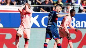 Sử dụng đội hình 'lạ hoắc', Barca hòa không bàn thắng với Huesca