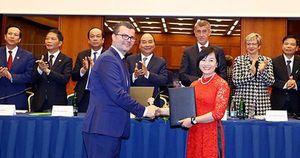Dưới sự chứng kiến của Thủ tướng, máy bay thân rộng Boeing 787 Dreamliner của Bamboo Airways sắp được khai thác trên đường bay thẳng tới Séc