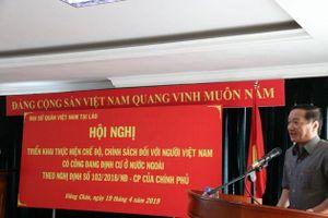 Hỗ trợ người Việt Nam có công với cách mạng tại Lào