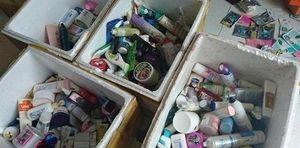 Bắt giữ cơ sở sản xuất mỹ phẩm giả với gần 10.000 lọ mỹ phẩm nhái ở Nghệ An