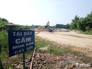 Huế: Bất chấp 'lệnh cấm', hàng chục bãi tập kết cát, sỏi trái phép vẫn hoạt động
