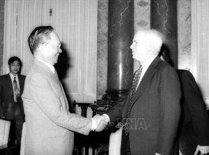 Một số hình ảnh đối nội, đối ngoại của nguyên Chủ tịch nước Lê Đức Anh