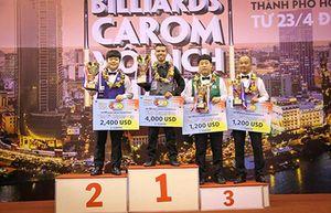 Billiards Việt Nam giành cú đúp tại giải VĐ carom châu Á